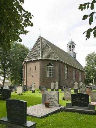 De hervormde kerk in Sint Nicolaasga