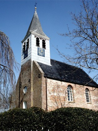 De hervormde kerk in Ouwsterhaule