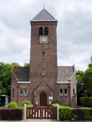 De hervormde kerk in Scharsterbrug