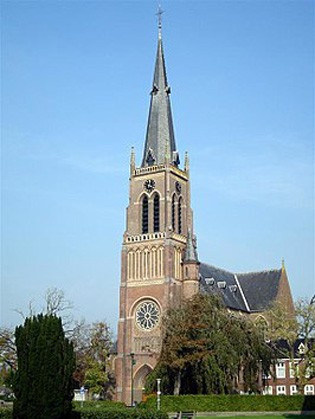 De Sint Nicolaaskerk in Sint Nicolaasga